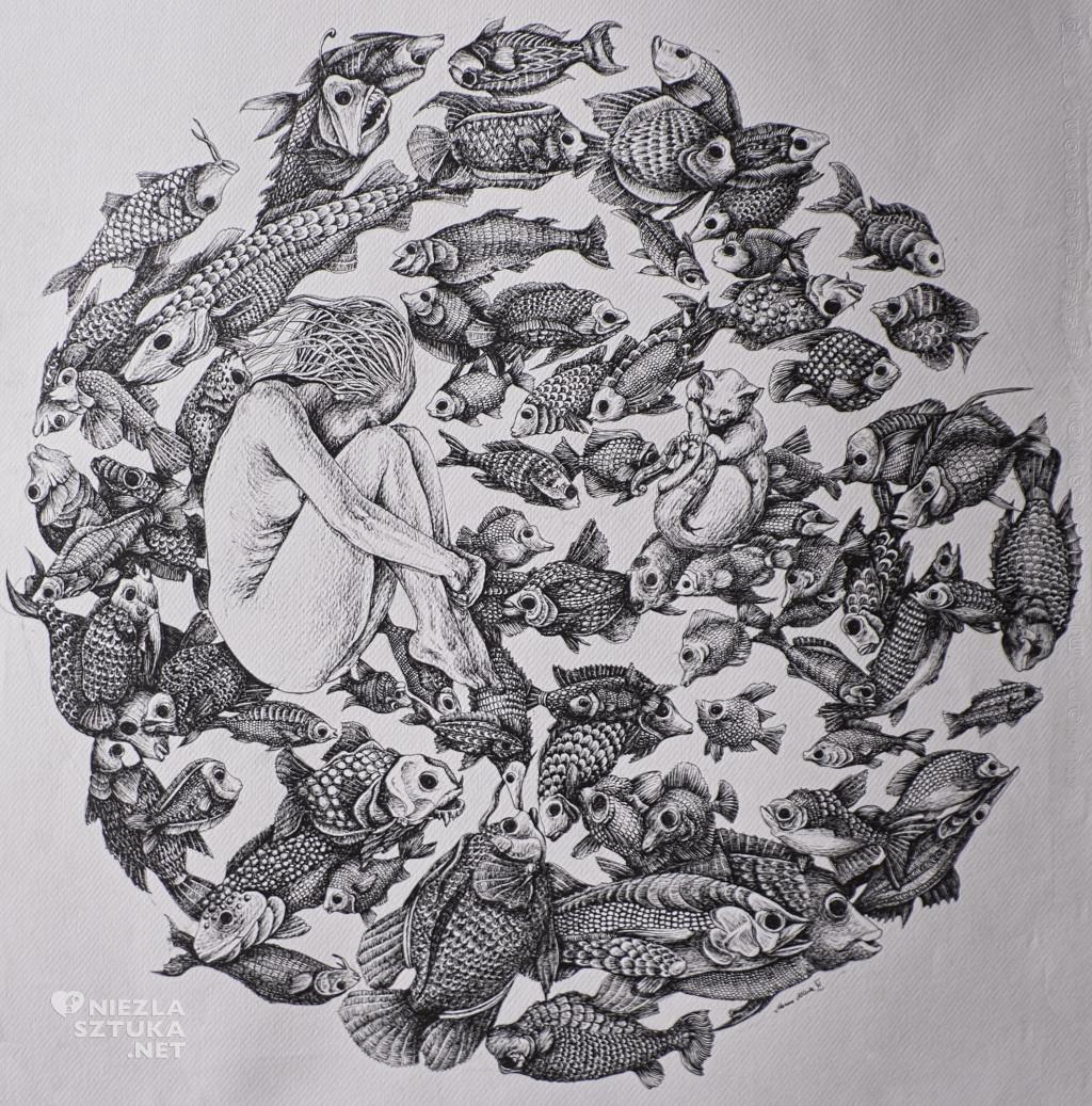 Marzena Ablewska-Lech grafika rysunek kobieta sztuka niezlasztuka.net