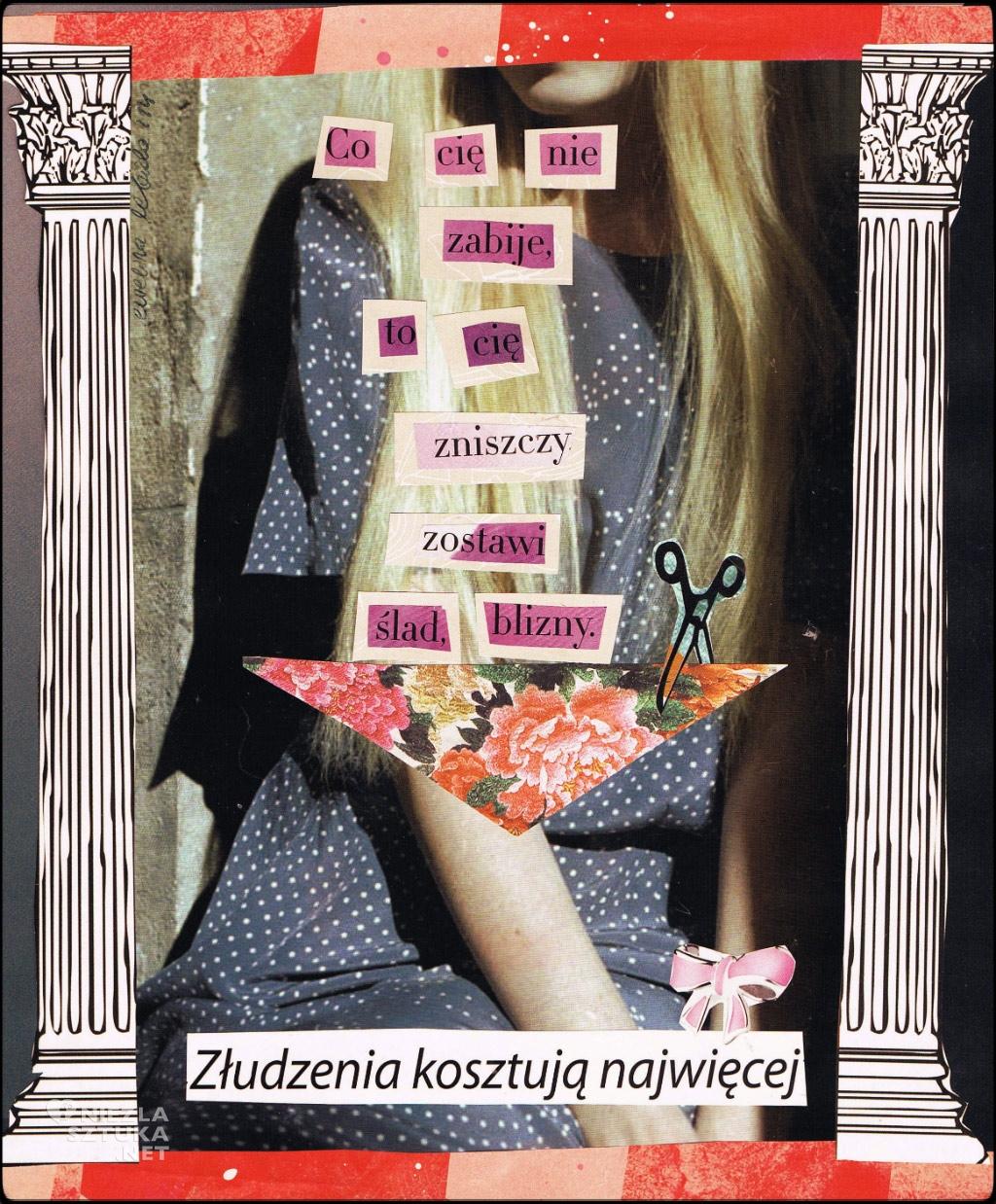Ewelina Lebida kolaż młoda sztuka www.niezlasztuka.net