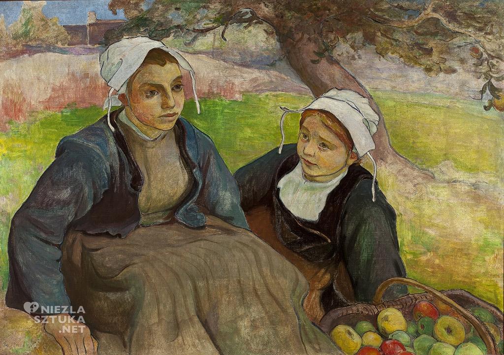 Władysław Ślewiński, Dwie Bretonki, malarstwo polskie, polska sztuka, Niezła Sztuka