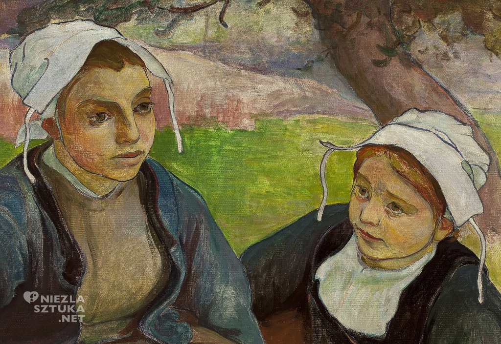 Władysław Ślewiński, Dwie Bretonki z koszem jabłek, malarstwo polskie, sztuka polska, Niezła Sztuka