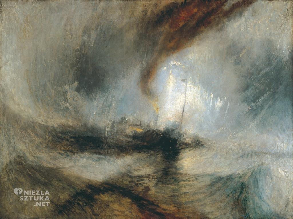 William Turner, Burza śnieżna, Parowiec wychodzący z portu, sztuka angielska, Niezła Sztuka