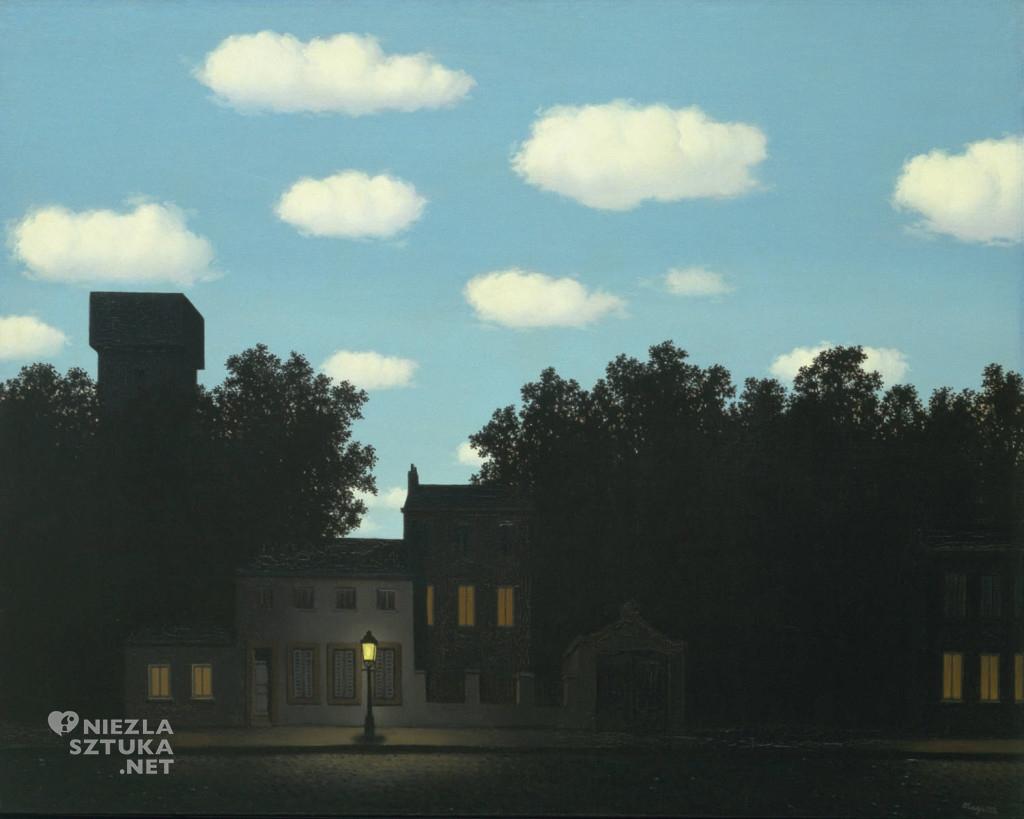 René Magritte, Królestwo świateł, surrealizm, belgijski malarz, Niezła Sztuka