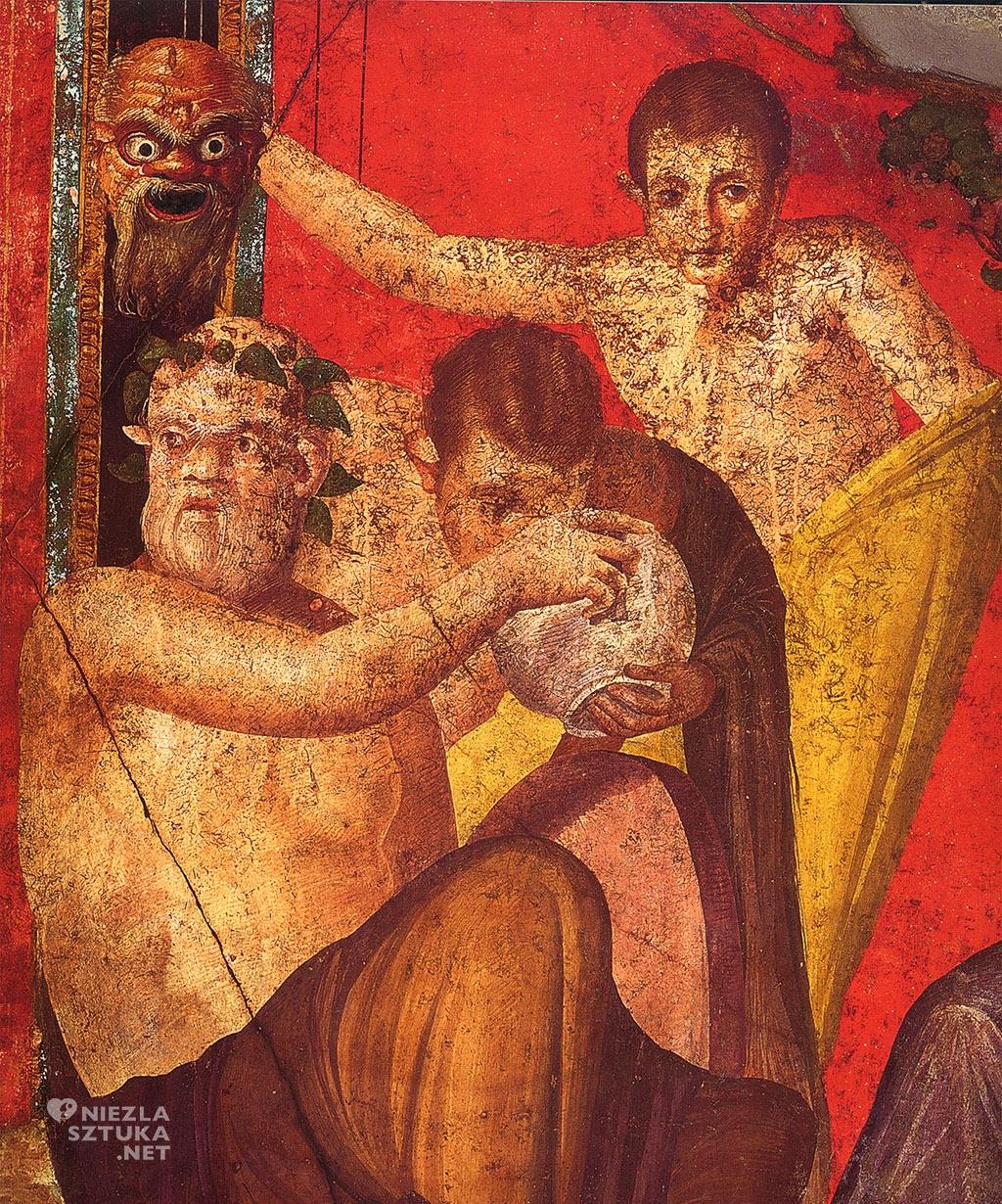 Fryz fresk malarstwo sztuka starożytność pompeje Willa misteriów niezlasztuka.net