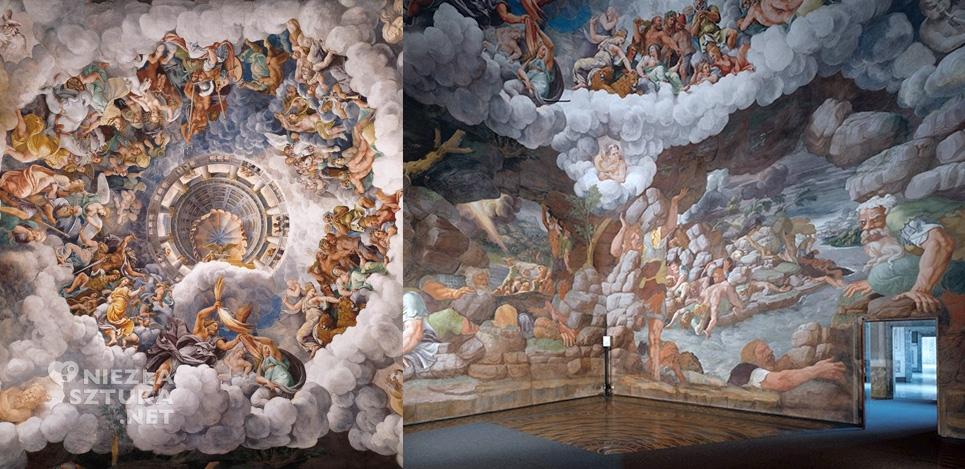 Giulio Romano fresk w Sala Gigantów Palazzo del Te mlarstwo iluzjonistyczne trompe l'oeil