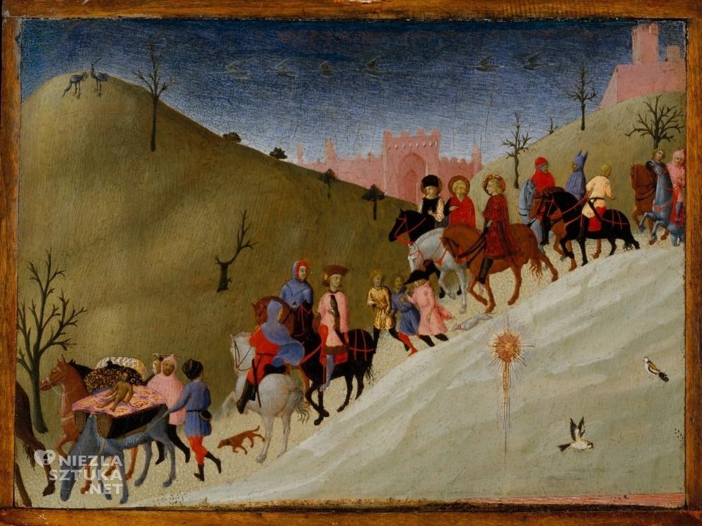 Stefano di Giovanni, Sasseta, Podróż Trzech Króli, motywy religijne, sztuka włoska, szkoła sieneńska, Niezła Sztuka