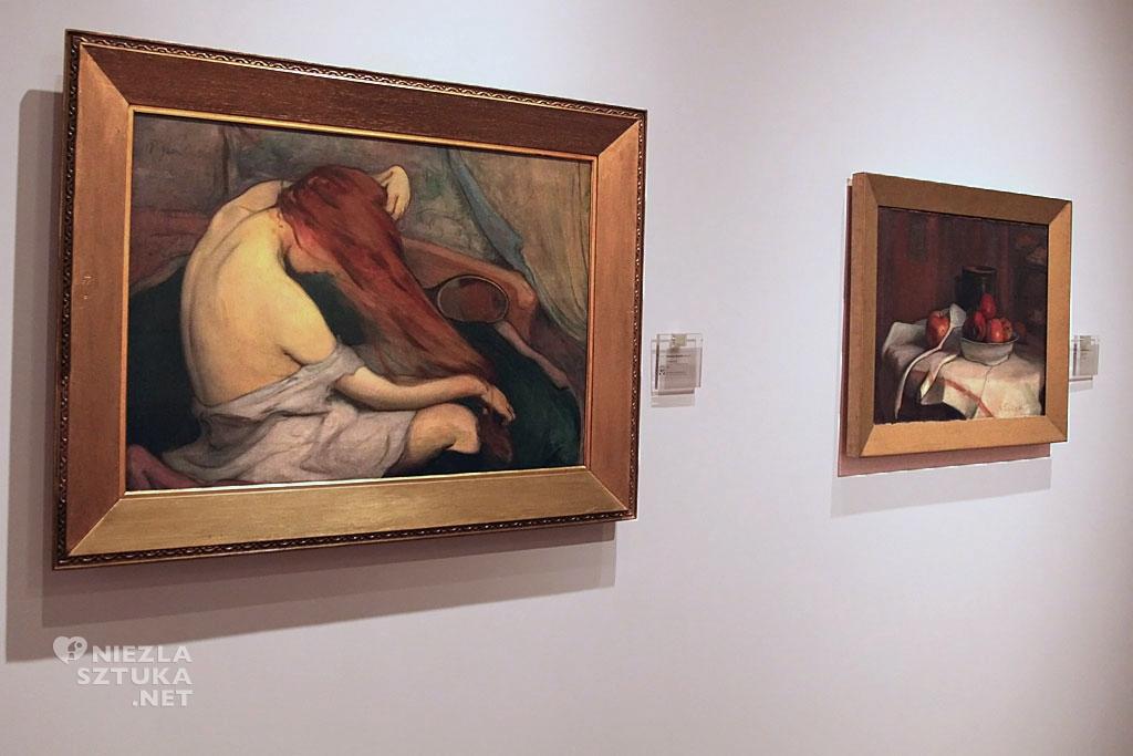 Władysław Ślewiński, Czesząca się, malarstwo polskie, polska sztuka, Niezła Sztuka