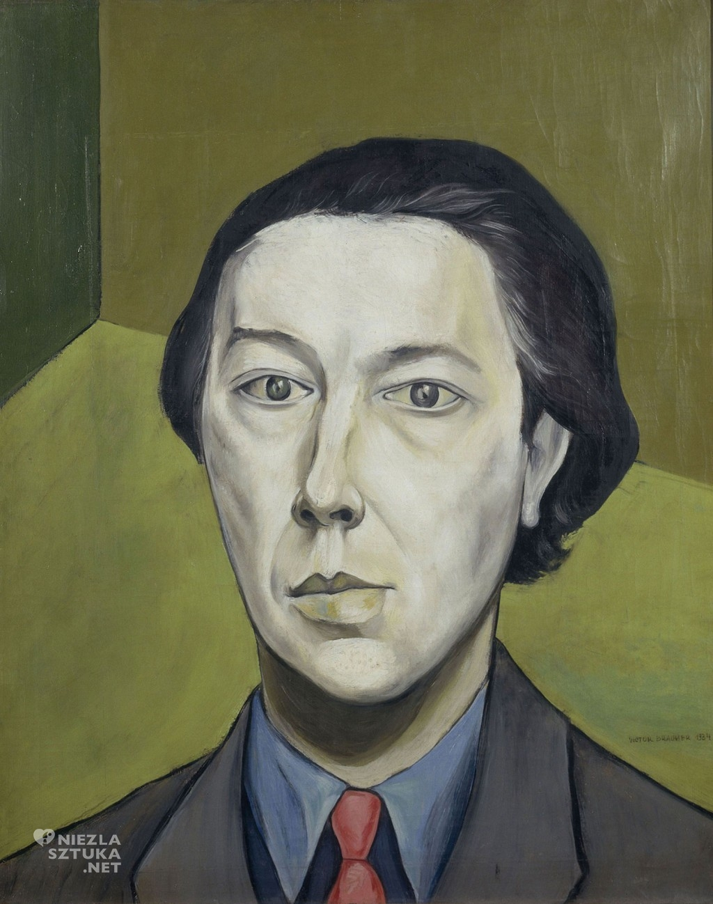 Victor Brauner, Portret André Bretona, 1934