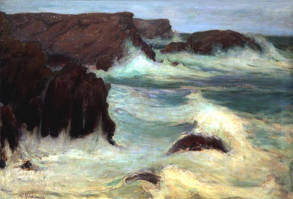 Władysław Ślewiński, Morze w Bretanii, malarstwo polskie, polska sztuka, Niezła Sztuka
