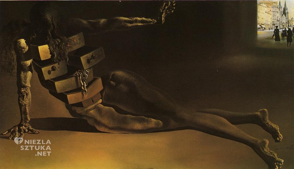 Salvador Dali, Antropomorficzna szafa z szufladami, 1936