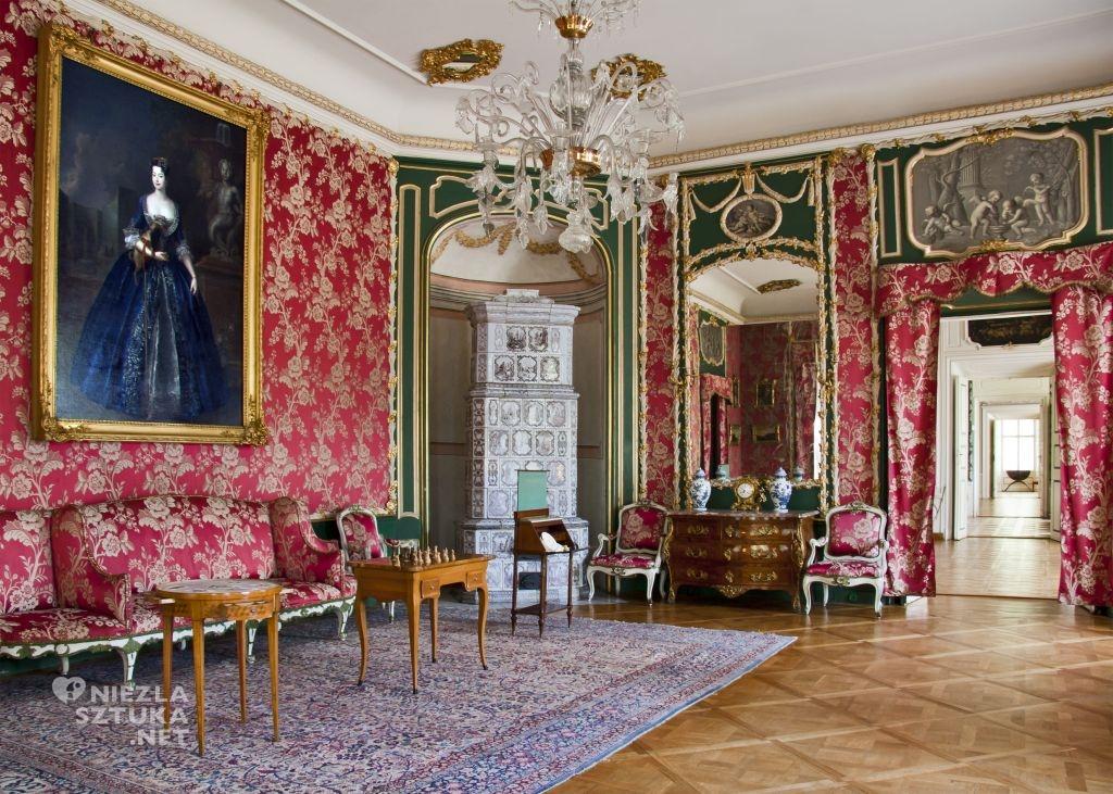 Pałac w Nieborowie, Salon czerwony z wizerunkiem Anny Orzelskiej ,fot. Darek Piwowarski
