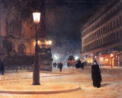 Ludwik de Laveaux, Plac Opery w Paryżu, malarstwo polskie, polska sztuka, Niezła Sztuka