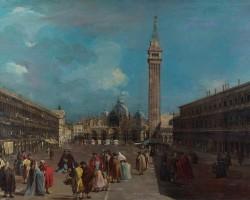 Francesco Guardi Plac San Marco, naprzeciwko Bazyliki,
