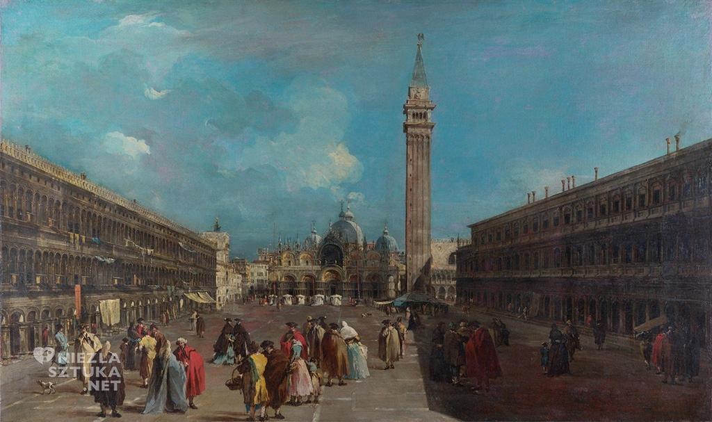 Francesco Guardi <em>Plac San Marco, naprzeciwko Bazyliki</em>, 1760-65