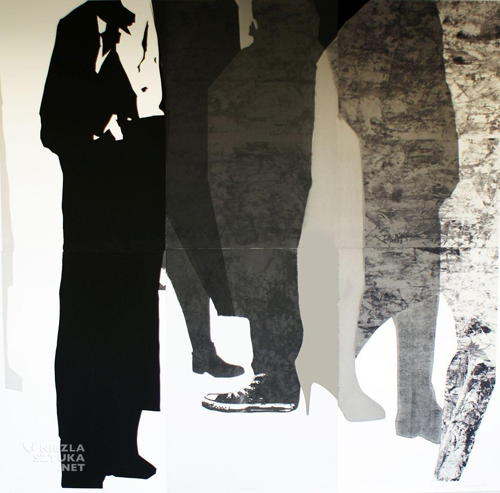 Damian Idzikowski, Psychologia Tłumu, serigrafia, monotypia, 2014