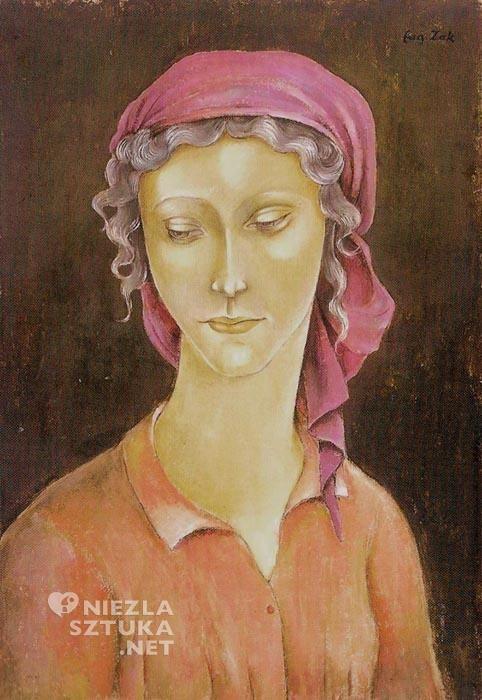 Eugeniusz Żak, Popiersie młodej dziewczyny, ok. 1913, tempera, gwasz na kartonie naklejonym na sklejkę (z kolekcji Krzysztofa Musiała)