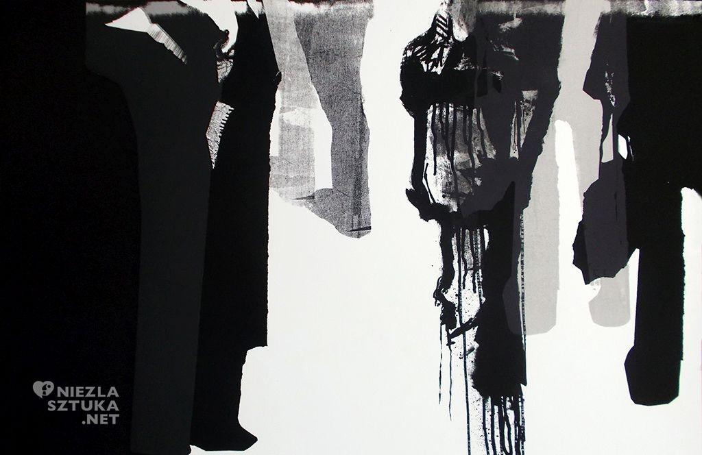 Damian Idzikowski, Poliptyl tłumu 1, mornotypia, serigrafia, 2013