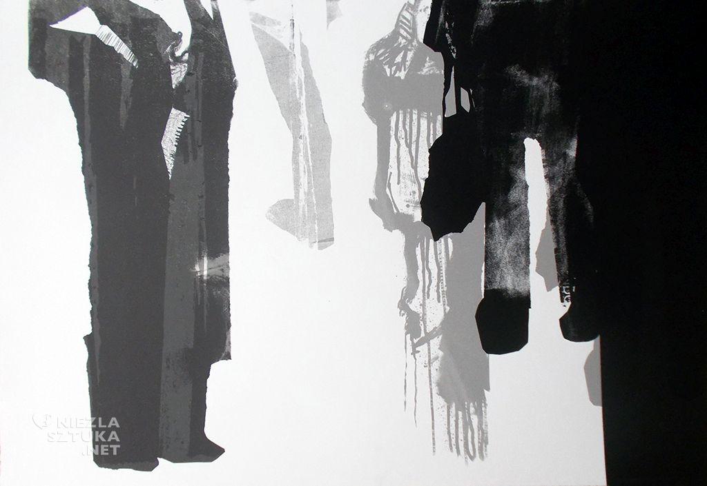 Damian Idzikowski, Poliptyl tlumu 3, mornotypia, serigrafia, 2013