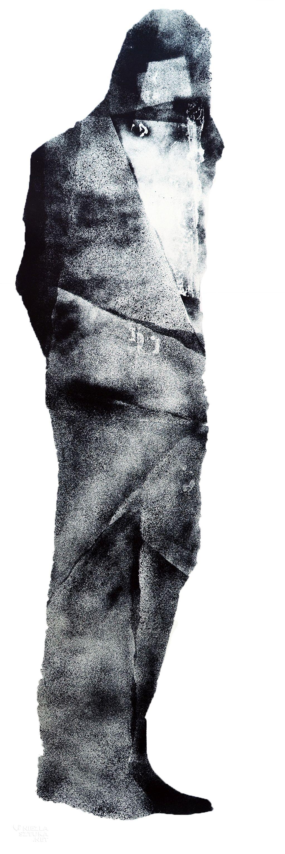 Damian Idzikowski, Pierwszy porzucony, serigrafia, 2014