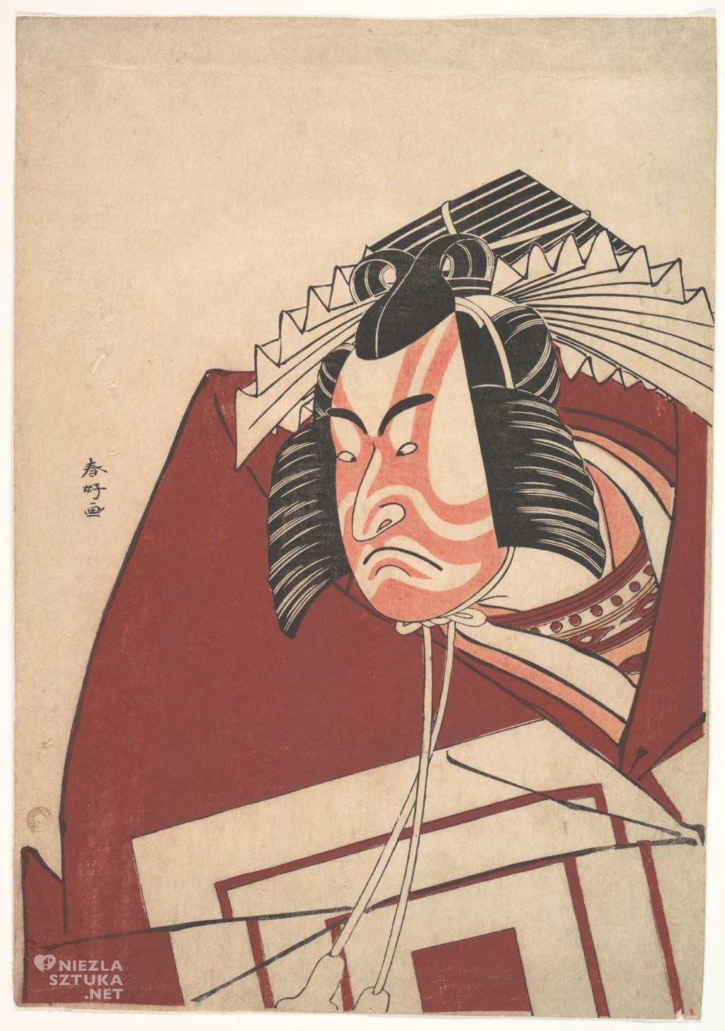 Katsukawa Shunko, Ichikawa Danjuro V w przedstawieniu Shibaraku, ok. 1789, źródło: Metropolitan Museum Of Art