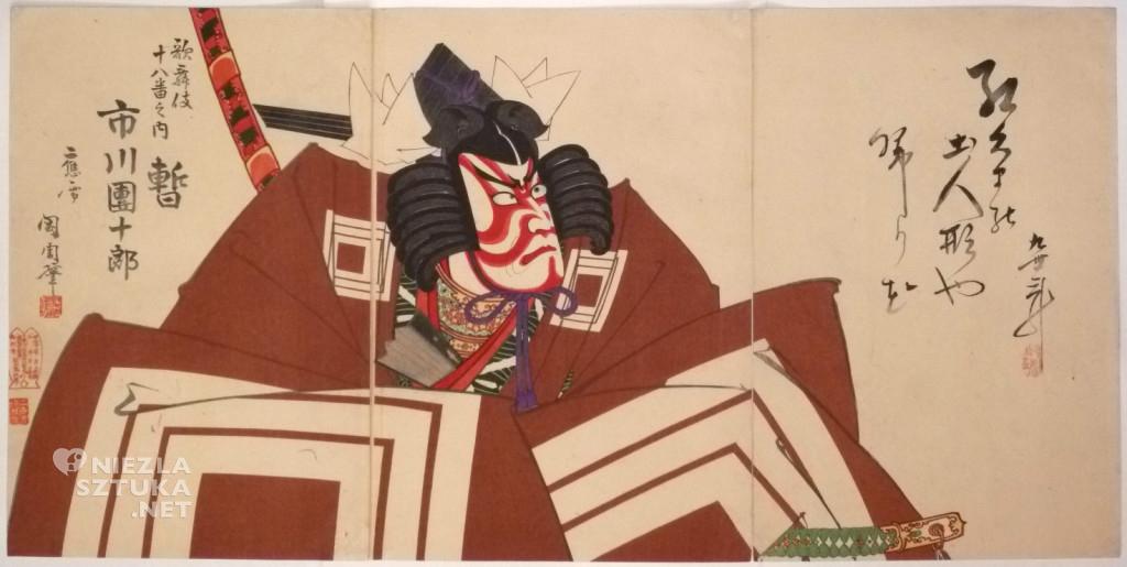 Toyohara Kunichika, Aktor Ichikawa Danjuro IX, 1895, JapanesePrints-London,com