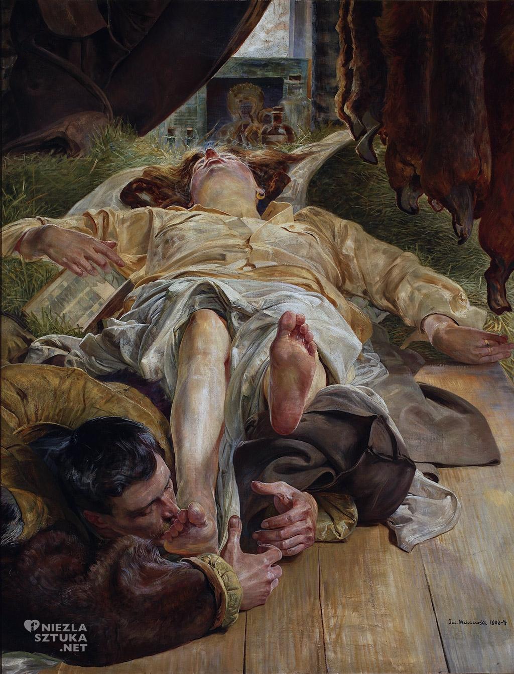 Jacek Malczewski, Śmierć Ellenai, malarstwo polskie, sztuka polska, muzeum narodowe w Warszawie, Niezła sztuka