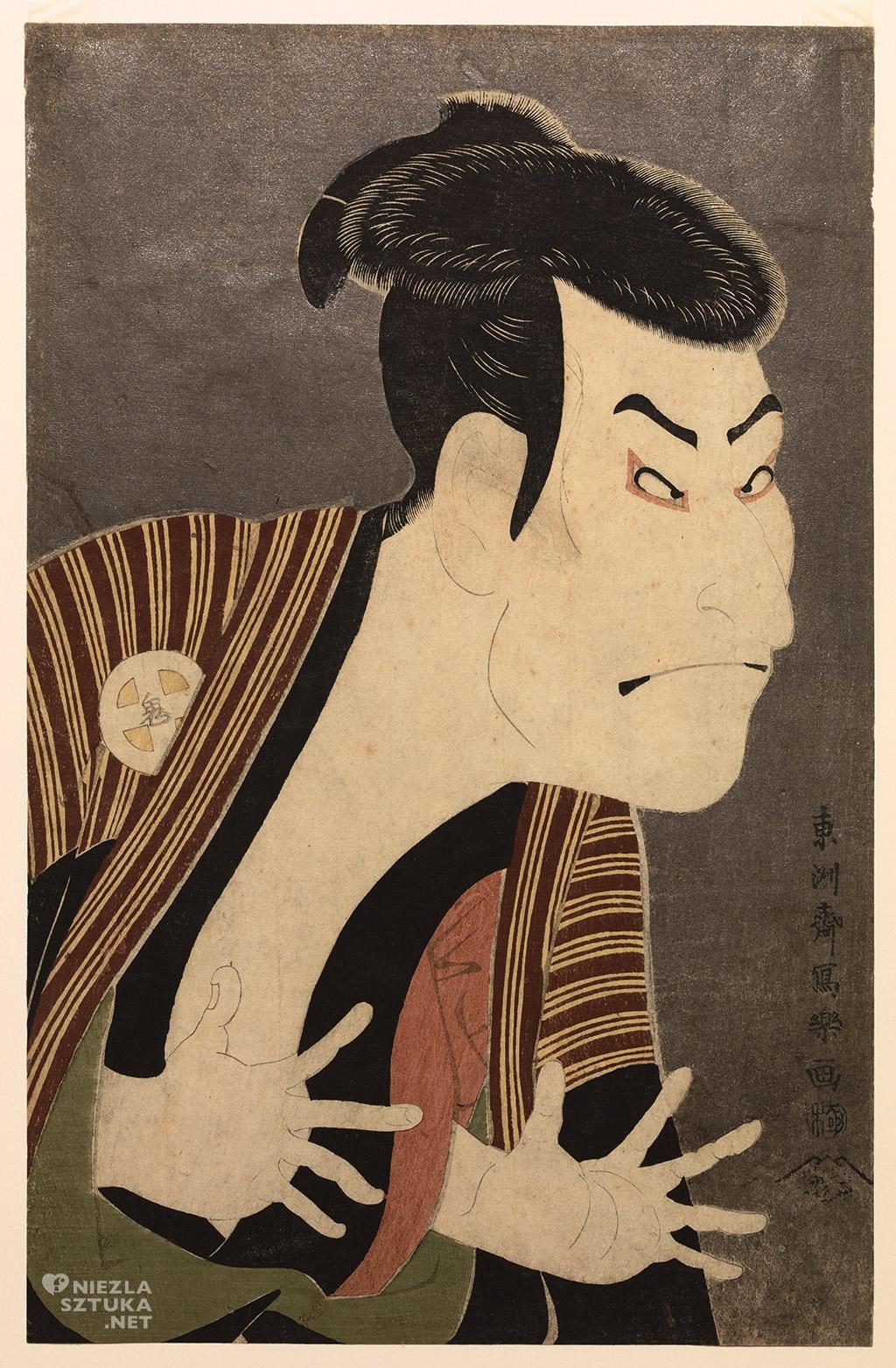 Toshusai Sharaku, <em>Aktor kabuki</em>, 1794