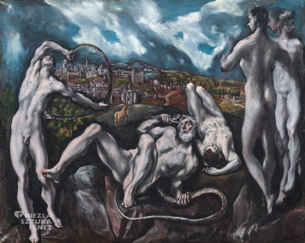 El Greco, Laokoon, nokturn, motywy mitologiczne, sztuka hiszpańska, Niezła Sztuka