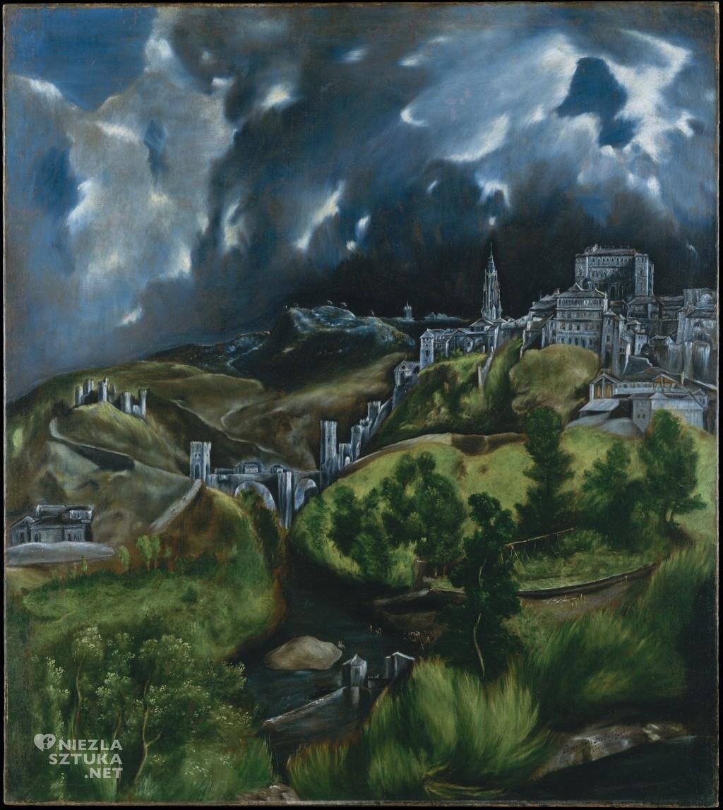 El Greco, Widok Toledo, nokturn, sztuka hiszpańska, Niezła Sztuka