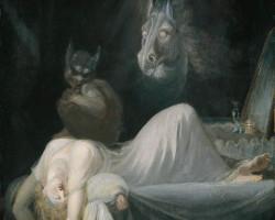 Johann Heinrich Füssli, Nocna mara, szwajcarski malarz, groza, fantastyka, Niezła Sztuka