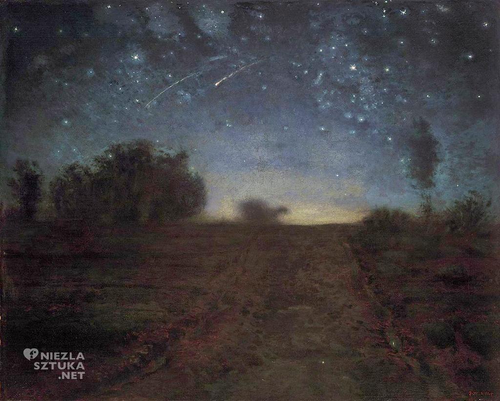 Jean-Francois Millet, Gwieździsta noc, nokturn, sztuka francuska, Niezła Sztuka