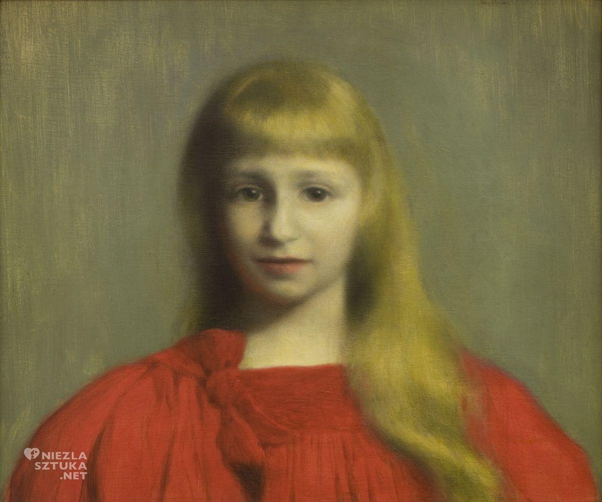 Józef Pankiewicz, Dziewczynka w czerwonej sukience, Portret Józefy Oderfeldówny, dziecko w sztuce, sztuka polska, malarstwo polskie, Niezła sztuka