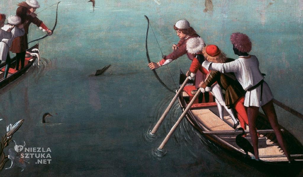 Vittore Carpaccio Polowanie na lagunie, fragment