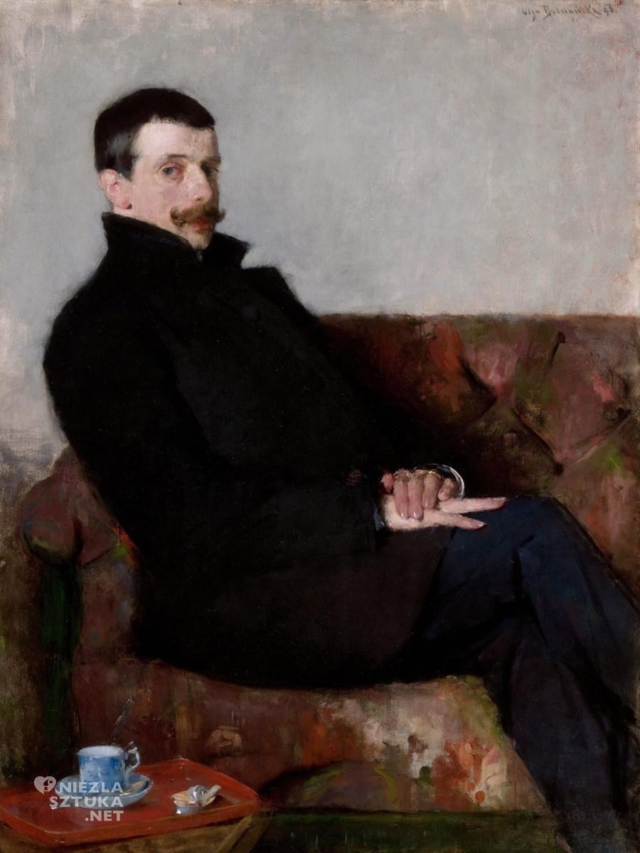 Olga Boznańska, Portret Paula Nauena, 1893, wł. Muzeum Narodowe w Krakowie, Niezła sztuka