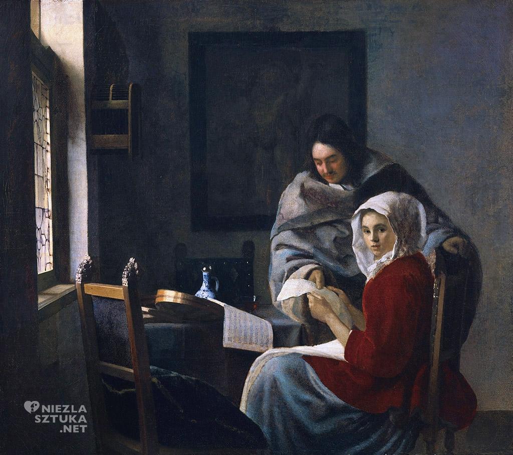 Johannes Vermeer <em>Przerwana lekcja muzyki,</em> ok. 1658-1661, The Frick Collection, Nowy Jork