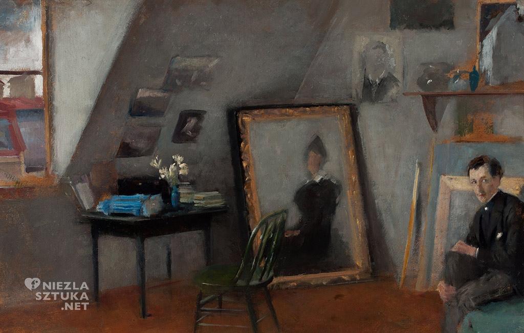 Olga Boznańska, Wnętrze pracowni, 1895, wł. Muzeum Narodowe w Warszawie