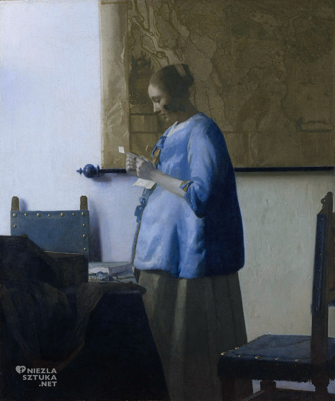 Johannes Vermeer <em>Kobieta w błękitnej sukni (Czytająca list)</em>, ok.1662 - 1665, Rijksmuseum, Amsterdam