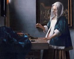 Johannes Vermeer, Kobieta z wagą, ok 1660, National Gallery of Art, Waszyngton Niezła sztuka