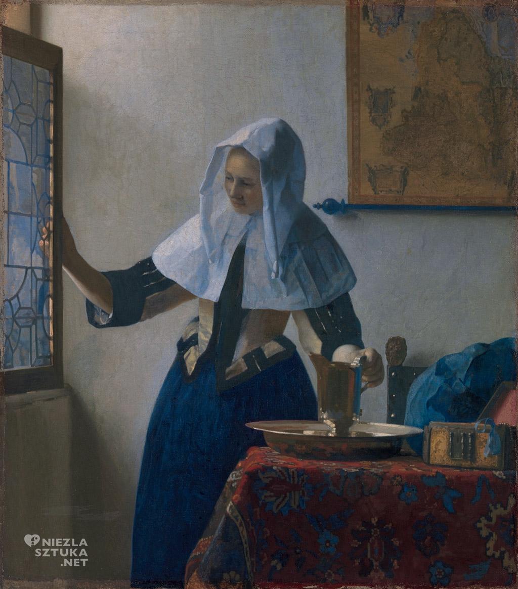 Johannes Vermeer, Kobieta z dzbanem, malarstwo niderlandzkie, Niezła Sztuka