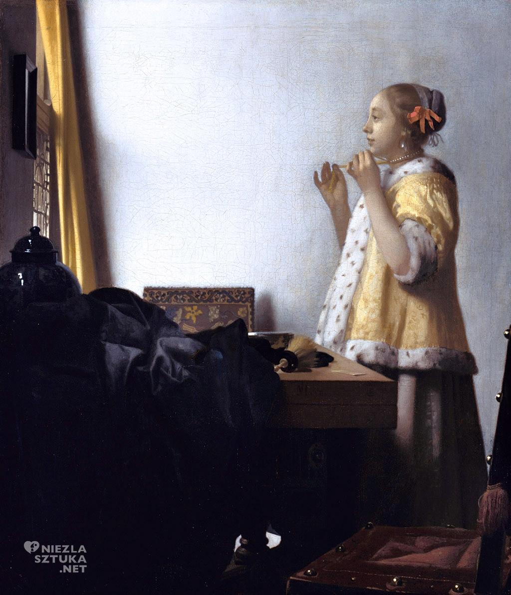 Johannes Vermeer <em>Sznur pereł</em>, ok. 1662 - 1665, Gemaldegalerie, Berlin