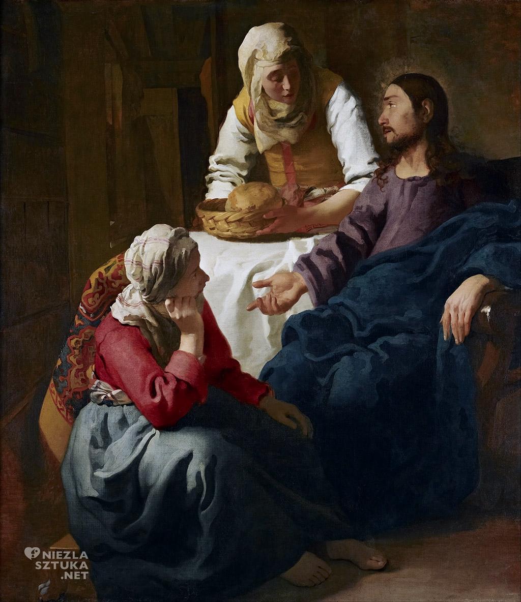 Johannes Vermeer Chrystus w domu Marii i Marty, ok. 1654 - 55, National Gallery of Scotland, Edynburg