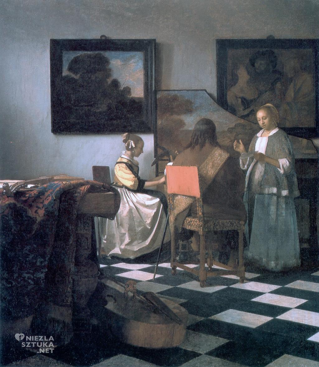 Johannes Vermeer, Koncert, skradziony obraz, malarstwo holenderskie, Niezła sztuka