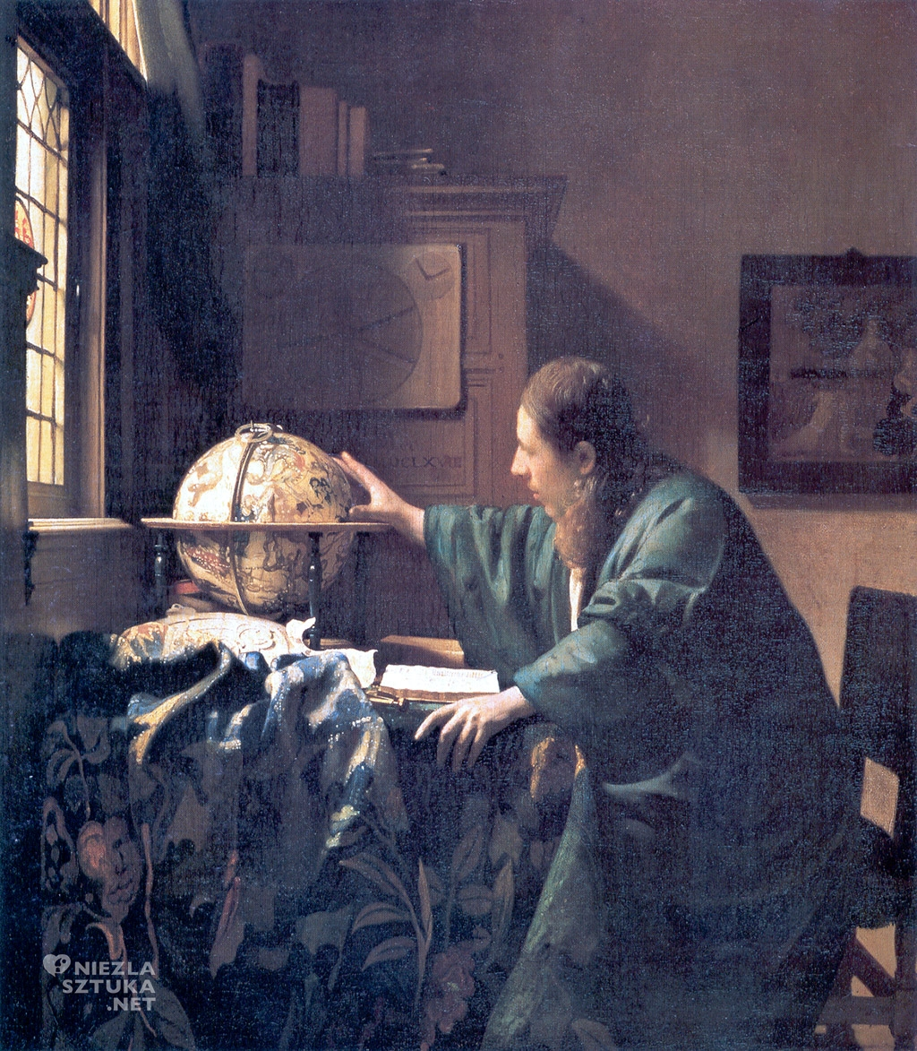 ohannes Vermeer, Astronom, malarstwo niderlandzkie, Niezła Sztuka