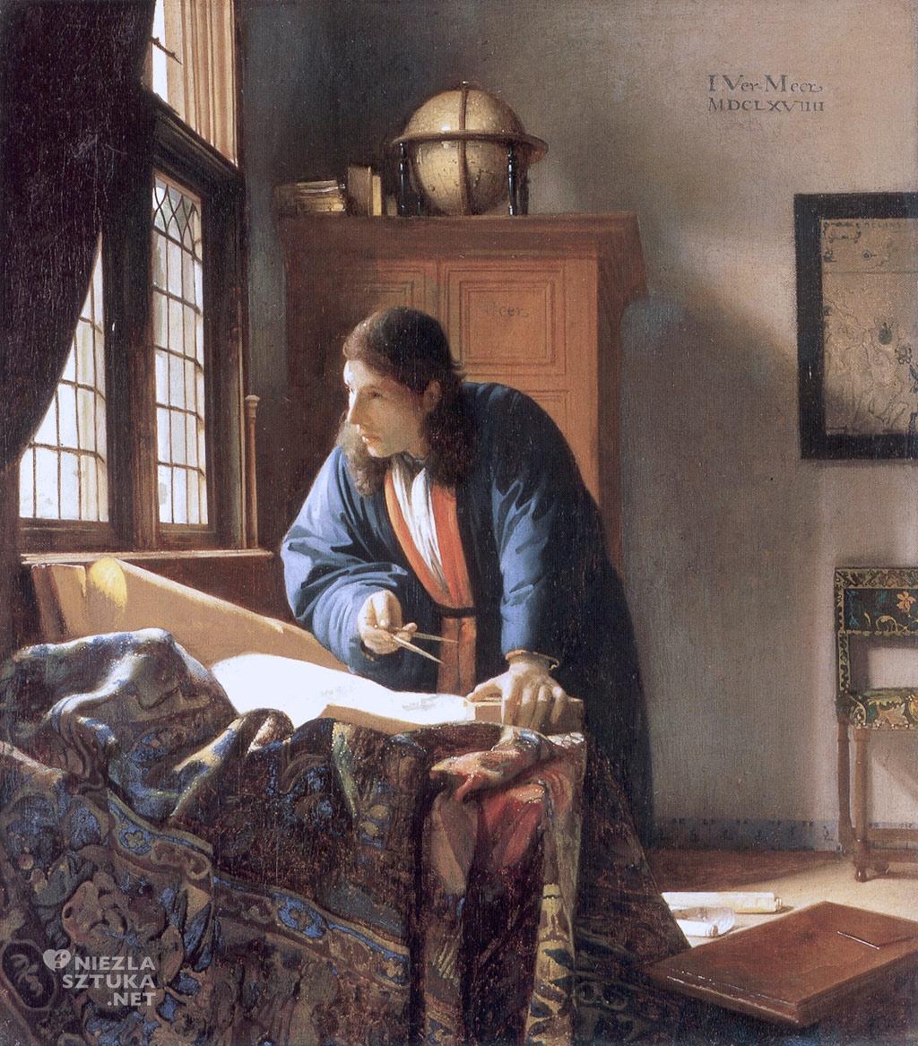 Johannes Vermeer Geograf, ok. 1668-1669, Stadelsches Kunstinstitut, Frankfurt