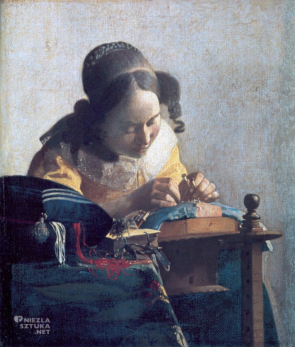 Johannes Vermeer, Koronczarka, Luwr, Niezła sztuka