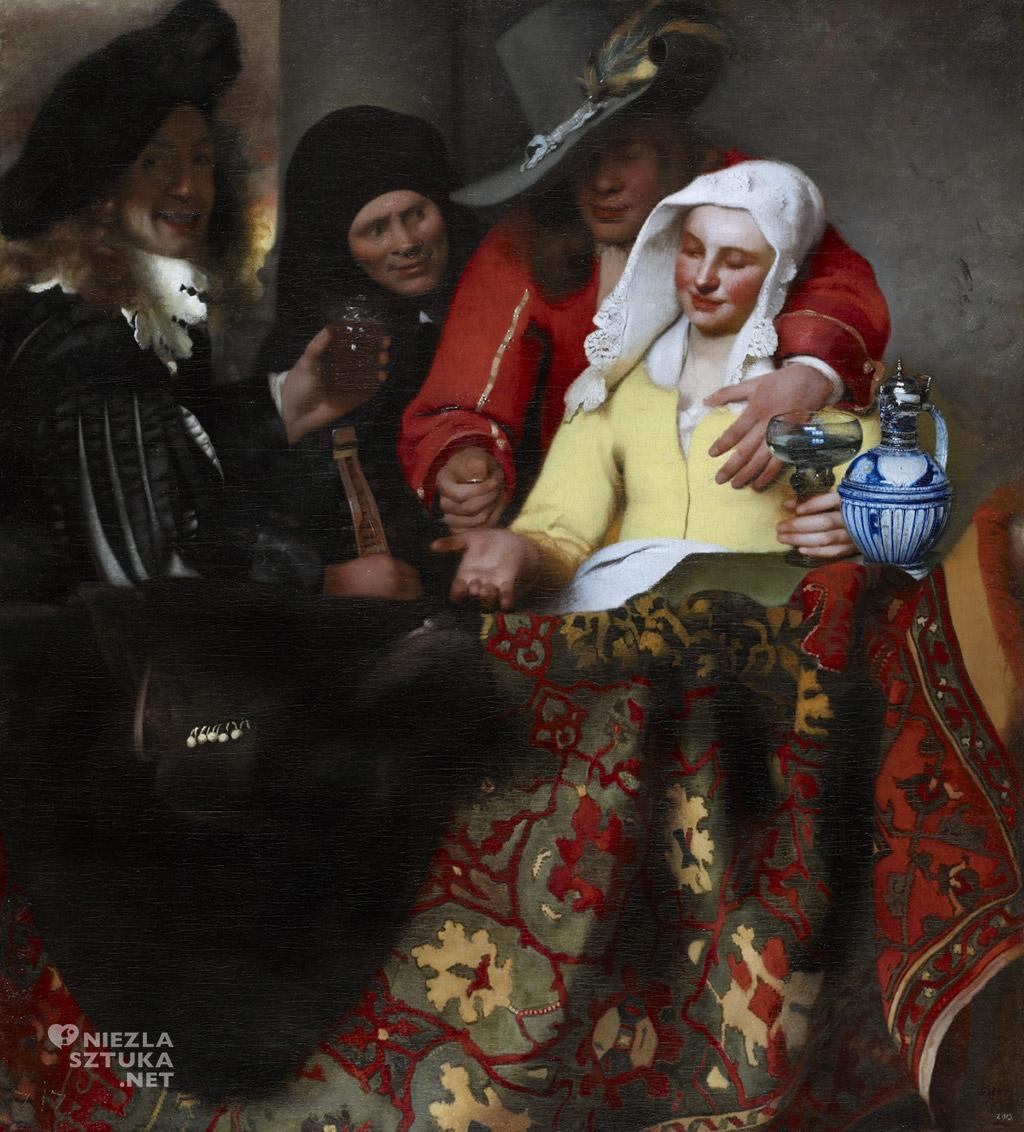 Johannes Vermeer, U stręczycielki, malarstwo niderlandzkie, Niezła Sztuka