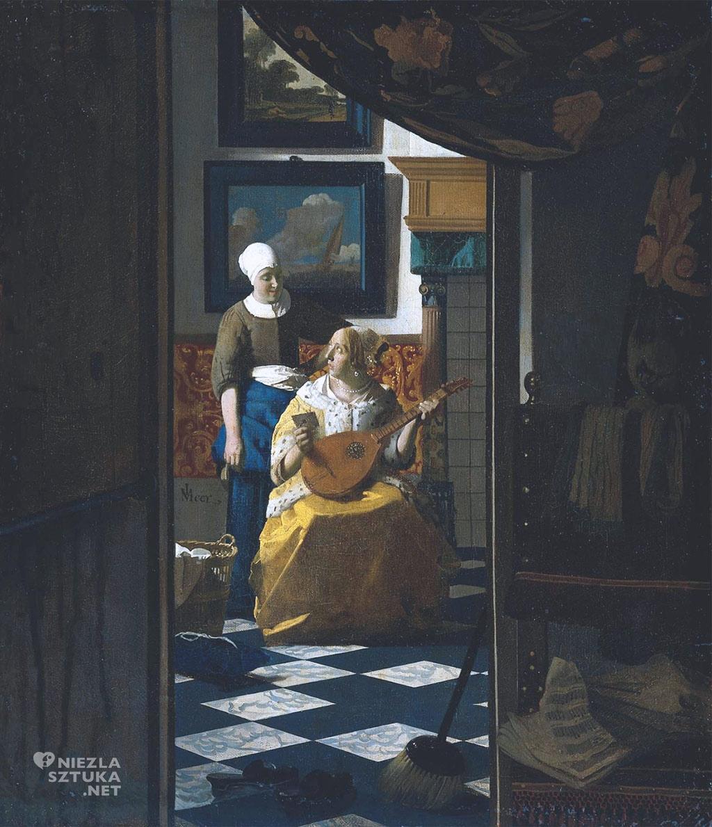 Johannes Vermeer, List miłosny, malarstwo niderlandzkie, Niezła Sztuka