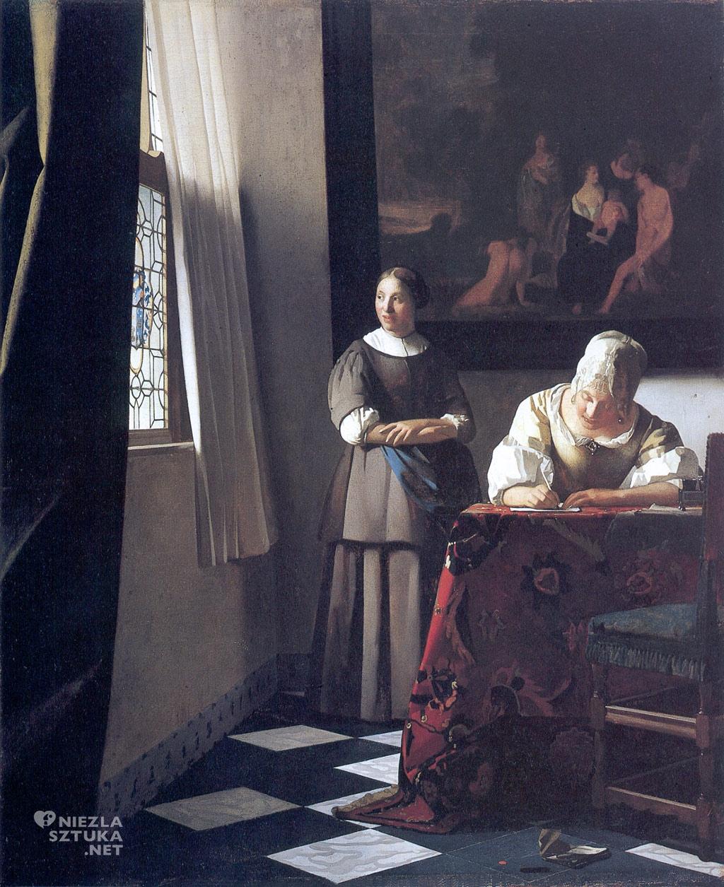 Johannes Vermeer, Pisząca list, malarstwo niderlandzkie, Niezła Sztuka