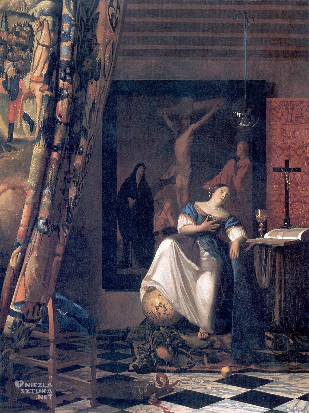 Johannes Vermeer, Alegoria wiary, malarstwo niderlandzkie, Niezła Sztuka