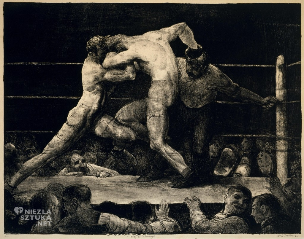 George Bellows, Stag at Sharkey's, 1917, fot. wikipedia.org