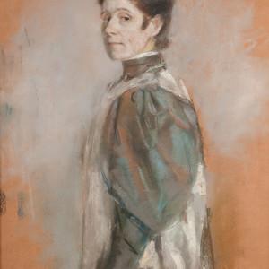 Olga Boznańska, Autoportret, sztuka polska, malarstwo polskie, Niezła sztuka